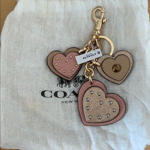 Coach Heart keyfob bag charm